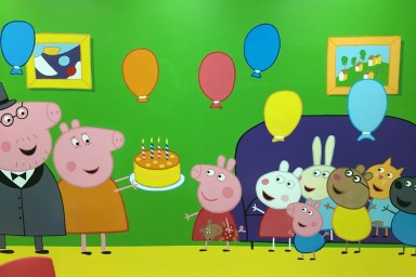 Детский день рождения в комнате Свинки Пеппы